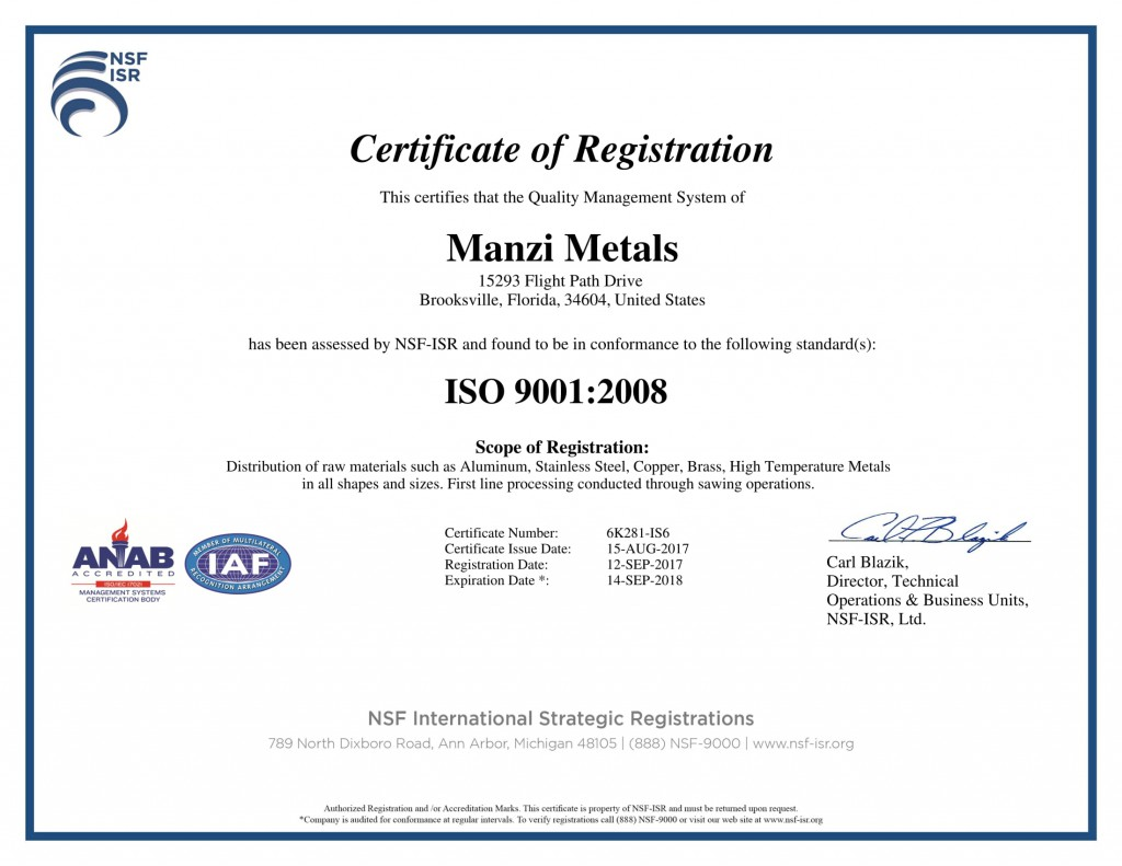 ISO9001 - Exp 9.14.18-1